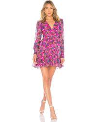 Saloni - Pia Dress In Pink - Lyst