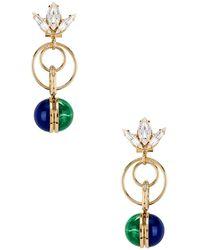 Anton Heunis - Tulip Double Ring Earrings - Lyst