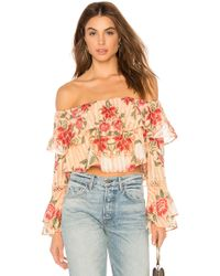 Finders Keepers - Arcadia Off Shoulder Top In Peach - Lyst