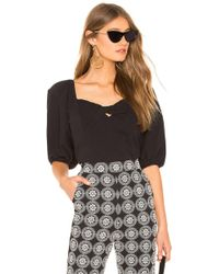 1.STATE - Puff Sleeve Crop Top In Black - Lyst