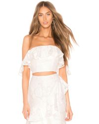 Keepsake - Radar Crop Top In Ivory - Lyst