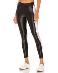 Koral - Emblem Cropped Legging In Black & White - Lyst