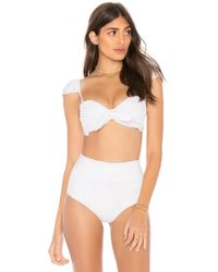 Montce Swim - Cabana Bow Top In White - Lyst