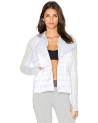 Blanc and Noir - 3 In 1 Packable Satin Jacket - Lyst