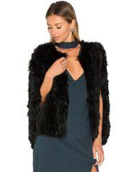 Elliatt - Treasure Rabbit Fur Cape - Lyst