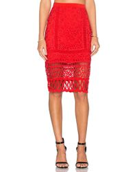 Greylin - Melrose Lace Pencil Skirt - Lyst