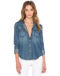 Level 99 - Stacey Western Button Up - Lyst