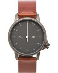Miansai - M24 Noir On All Leather Watch - Lyst