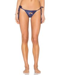 My Own Summer - Caraiva Embroidered Bikini Bottom - Lyst