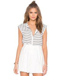 Native Stranger - Sleeveless Stripe Shirt - Lyst