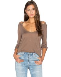 Project Social T - Wild Night Flax Cold Shoulder Tee - Lyst