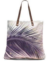 Samudra - Makena Palm Flat Tote - Lyst