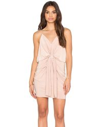 T-bags | Domino Tie Front Micro Mini Dress | Lyst