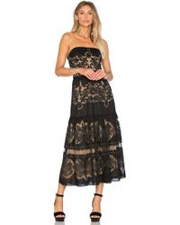 Twelfth Street Cynthia Vincent   Strapless Flounce Midi Dress   Lyst