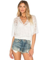 Twelfth Street Cynthia Vincent - Geo Lace Blousant Top - Lyst