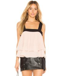 BCBGMAXAZRIA - Jaklyn Sleeveless Shirred Top In Blush - Lyst