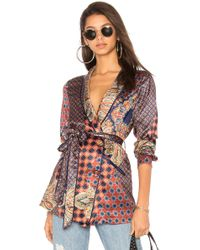 House of Harlow 1960 - X Revolve Arthur Top In Blue - Lyst