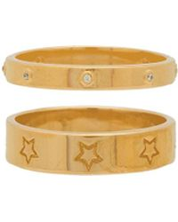 Joolz by Martha Calvo - Star Band Ring Set In Metallic Gold - Lyst