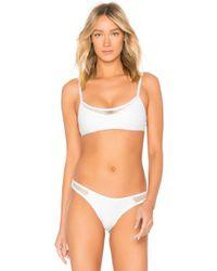 L*Space - L* Naomi Bikini Top In White - Lyst