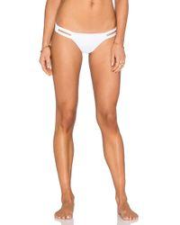 Vitamin A - Neutra Hipster Bikini Bottom In White - Lyst