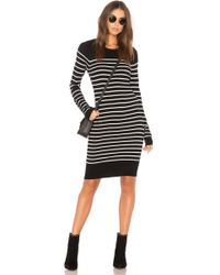 BCBGeneration - Striped Dress In Black Combo - Lyst