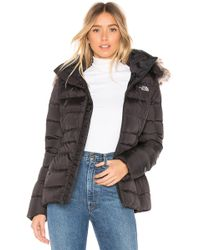 The North Face - Gotham Jacket Ii With Faux Fur Trim In Black - Lyst