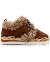 See By Chloé - Espadrille Sneaker In Brown - Lyst