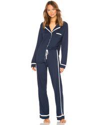 Cosabella - Bella Long Sleeve Top & Pant Pj Set In Navy - Lyst