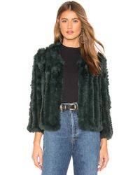 Heartloom - Rosa Fur Jacket In Dark Green - Lyst