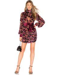 Ronny Kobo - Georgina Floral Burnout Dress - Lyst