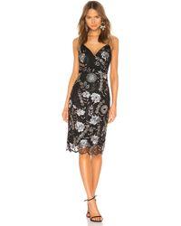 Bronx and Banco - Tiara Midi Dress In Black - Lyst