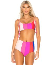 Paper London - Rainbow Sunshine Bikini Top - Lyst