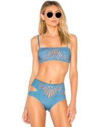 Beach Riot - Penny Bikini Top In Blue - Lyst