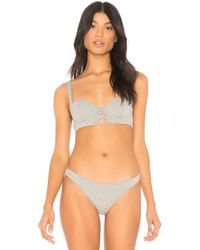 Kendall + Kylie - Jersey Laced Balconette Bra - Lyst