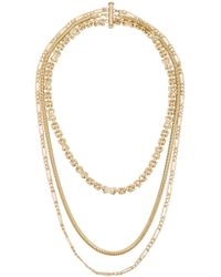 Child Of Wild - Deco Layered Necklace In Metallic Gold. - Lyst
