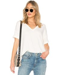 Rag & Bone - Phoenix Vee Top In White - Lyst