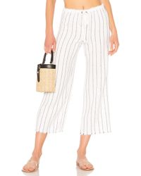 Bailey 44 - Poppy Seed Stripe Pant In White - Lyst