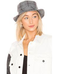 f01dfa8d42c4b Lyst - Brixton Hardy Womens Bucket Hat in Gray