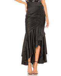 MILLY - Drawstring Skirt In Black - Lyst