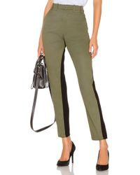 N°21 - Cropped Pant In Olive - Lyst