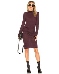 Lanston - Turtleneck Dress In Wine - Lyst