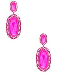 Kendra Scott - Kaki Earrings In Pink. - Lyst