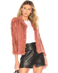 Heartloom - Rosa Fur Jacket In Pink - Lyst