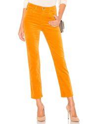 AG Jeans - Isabelle Velvet Pant In Mustard - Lyst