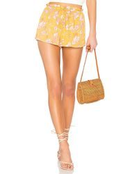 Amuse Society - Check Me Out Short In Mustard - Lyst