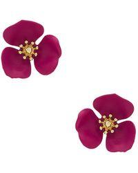 Shashi - Flower Stud - Lyst