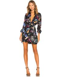Parker - Ora Floral Long-sleeve Mini Dress - Lyst