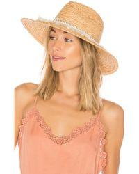 Michael Stars - Ocean Grass Wide Brim Hat In Tan. - Lyst