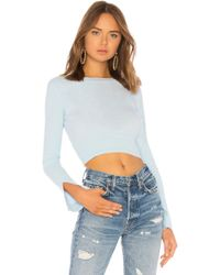 6d4bde116d Lovers + Friends - Early Morning Pullover In Baby Blue - Lyst