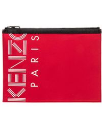 KENZO - A4 Pouch In Red. - Lyst